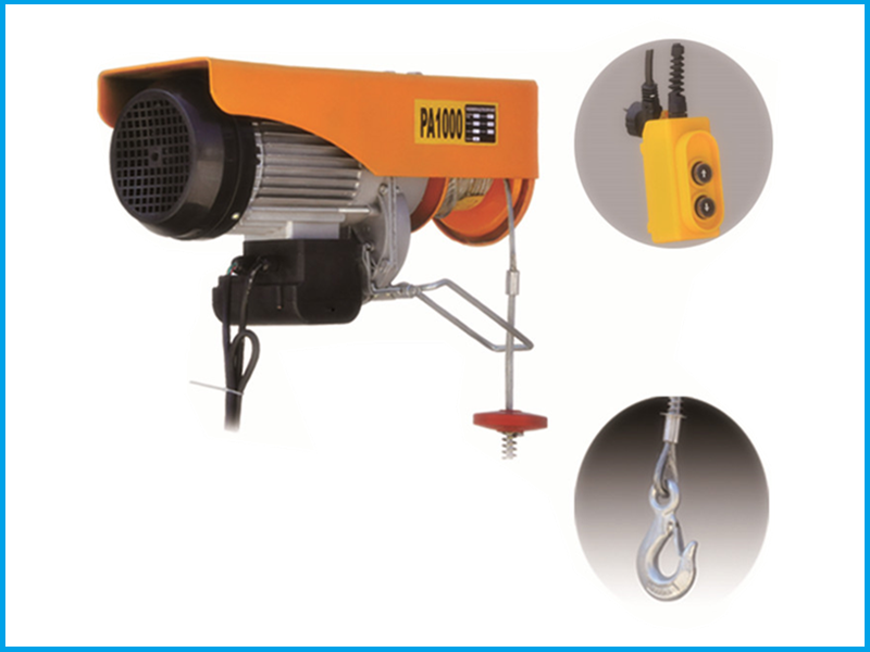 PA Systerm 200kg Electric Wire Rope Hoist for Sale, Mini Electric ...